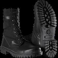 Ботинки Берцы НАТО летние кожа + ткань канвас цвет черный с 36 по 44