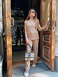 Женский повседневный костюм рубчик: свитер под горло и свободные брюки (в расцветки), фото 4