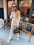 Женский повседневный костюм рубчик: свитер под горло и свободные брюки (в расцветки), фото 5
