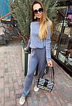 Женский повседневный костюм рубчик: свитер под горло и свободные брюки (в расцветки), фото 9