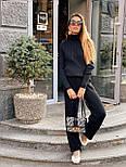 Женский повседневный костюм рубчик: свитер под горло и свободные брюки (в расцветки), фото 8