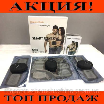 Миостимулятор EMS TRAINER 3в1 - (Пояс стимулятор мышц пресса + 2 На бицепс)!Хит цена, фото 2