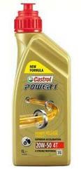 Масло для крутых и мощных 4 тактных мотоциклов  вязкость 20W-50, 1Л оригинал (CASTROL POWER 1, 4T 15049A)