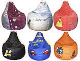 Кресло мешок груша пуф с вышивкой бескаркасная мебель, фото 6