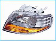 Фара правая Chevrolet Aveo (T200) 2003 - 2008, механ., светлый корпус, (FPS, FP 1703 R04-P) OE 96408151 - шт.