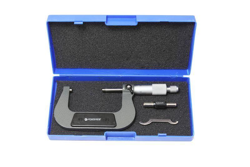 Микрометр (75-100мм, 0.01мм), в пластиковом футляре