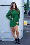 Женское вязаное платье приталенное шерсть+акрил длинный рукав размер: 42-46, фото 5
