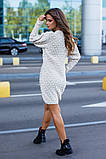 Женское вязаное платье приталенное шерсть+акрил длинный рукав размер: 42-46, фото 6