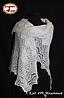 Оренбургский молочный пуховый платок Аврора 100 см, фото 2
