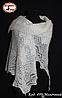 Оренбургский молочный пуховый платок Аврора 100 см, фото 3
