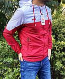 Мужская куртка ветровка Puma 21179 красно-белая, фото 3