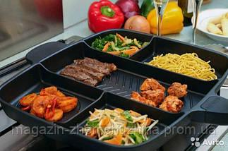 Сковорода гриль с антипригарным покрытием Magic Pan на 5 секций!Хит цена, фото 2
