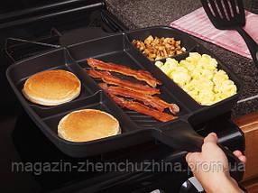 Сковорода гриль с антипригарным покрытием Magic Pan на 5 секций!Хит цена, фото 3