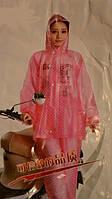 Дождевик-костюм с капюшоном,куртка на молнии и кнопках,брюки на резинке толщина 2 мм