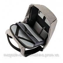 """Городской рюкзак антивор Bobby bag  Bobby bag 15"""", черный, серый!Хит цена, фото 3"""
