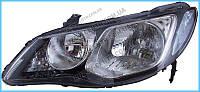 Фара передняя для Honda Civic 4d '06-09 правая (DEPO) под электрокорректор
