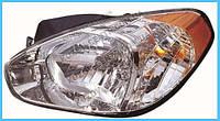 Фара Hyundai Accent 06-10 левая (Depo) электрическая регулировка 921011E000