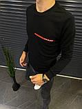 Чоловічий світшот Prada 21652 чорний, фото 2