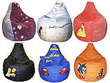 Кресло бескаркасное для детей груша пуф мягкое, фото 6