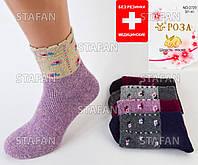 Женские носки ангора с махрой внутри Roza 2720. В упаковке 12 пар