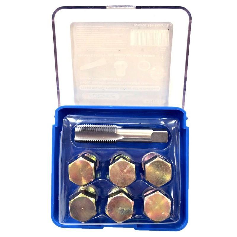Набор для восстановления резьбы сливного отверстия поддона: M15х1,5 мм (7 пр.) в футляре.