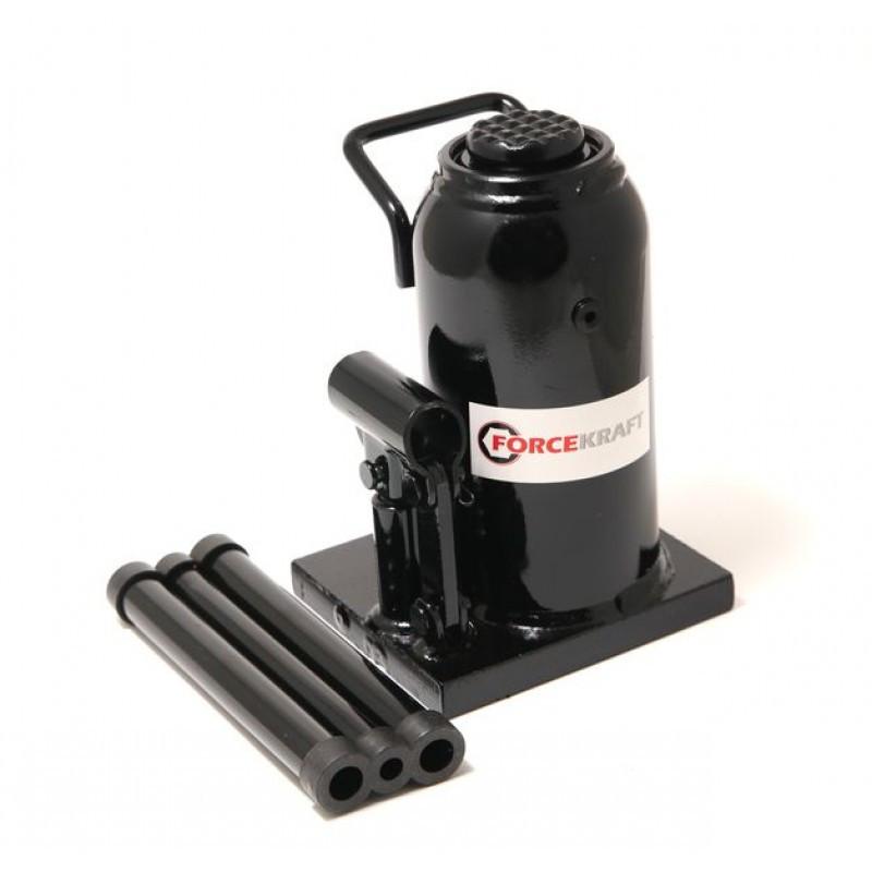 Домкрат бутылочный 20т с клапаном (h min 240мм, h max 450мм,вес 10,5 кг) ForceKraft