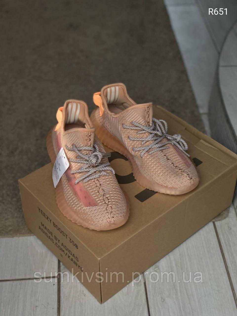 Кроссовки женские Adidas Yeezy Boost 350 v2 Clay (Топ качество)