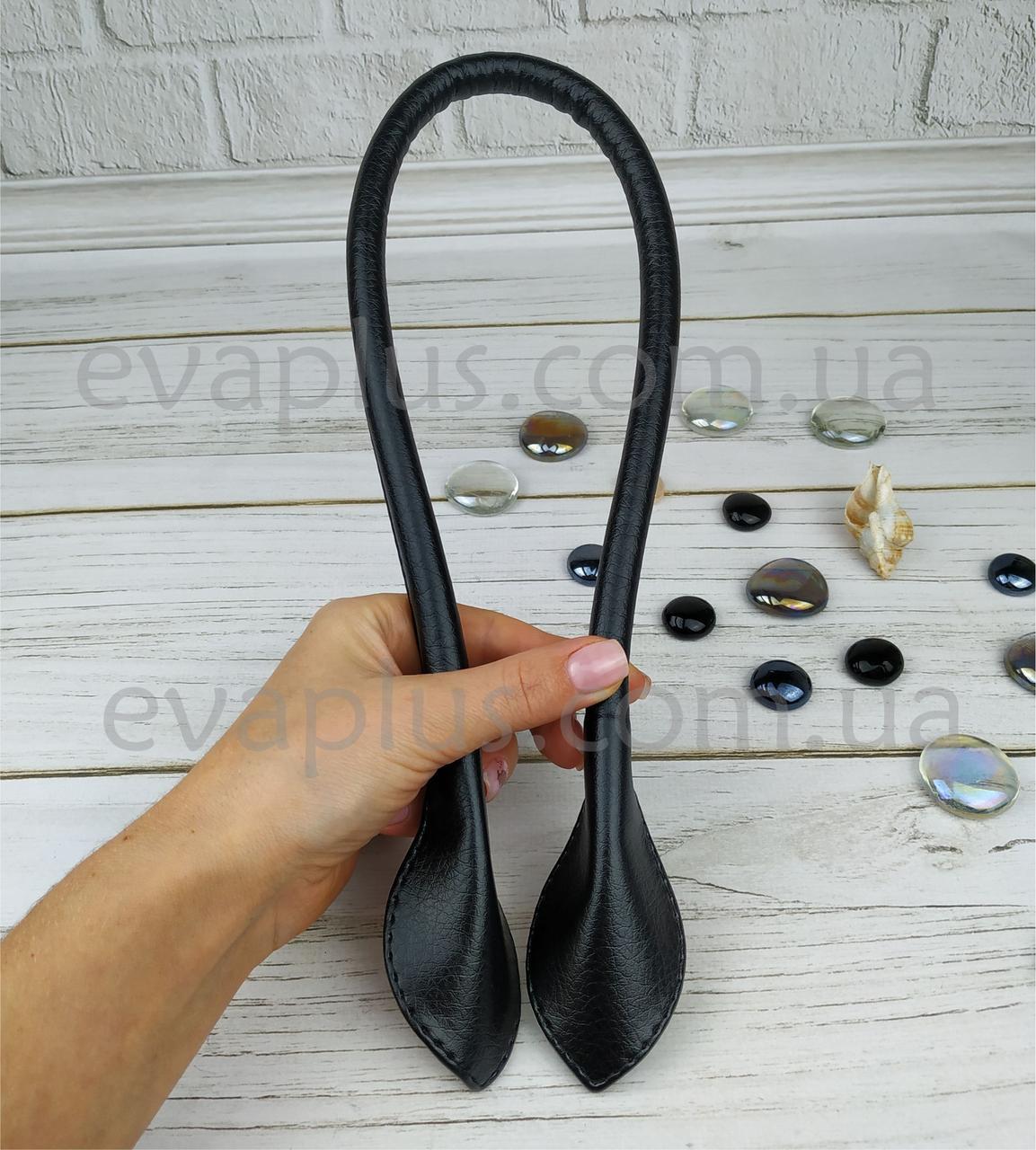 Ручка пришивная 64 см черная глянцевая
