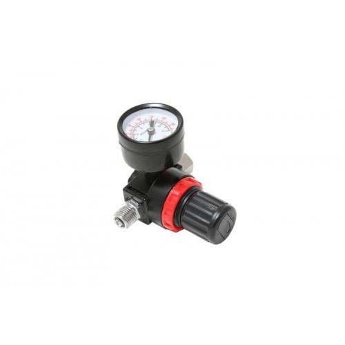"""Регулятор давления воздуха с индикатором 1/4""""(F)x1/4""""(M) (0-12bar, нижнее расположение регулятора)"""