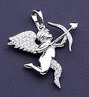 """Серебристый  кулончик   """"Серебряный ангел"""" от студии LadyStyle.Biz"""