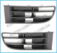 Решетка в бампере правая VW Polo IV 02-05 (FPS) без отв. птф 6Q0853666B41