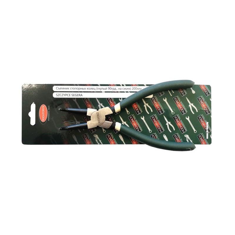 Съемник стопорных колец изогнутый на сжим (90°,L-280 мм), в блистере