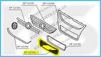 Решетка в бампере VW Touareg 07-09 средняя, черная (FPS) 7L6853678E