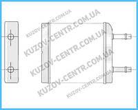 Радиатор печки Daewoo Matiz 2001- (M150)