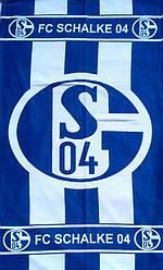 Полотенце пляжное синее FC SCHALKE 04