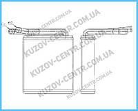 Радиатор печки Hyundai H100 (95-00) (FPS)