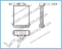 Радиатор печки Mercedes-Benz M-class W163 (Nissens) FP 46 N141