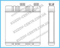 Радиатор печки Opel Astra F / Zafira / Astra G (NRF) FP 52 N37-X