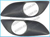 Решетка бампера Toyota Yaris 10-11 под ПТФ, левая (FPS) 814820D110