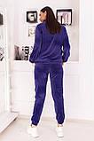 Велюровый спортивный костюм кофта на молнии и штаны с лампасами размер: 48-50,52-54, фото 2