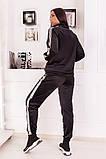 Велюровый спортивный костюм кофта на молнии и штаны с лампасами размер: 48-50,52-54, фото 3