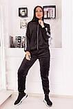 Велюровый спортивный костюм кофта на молнии и штаны с лампасами размер: 48-50,52-54, фото 4