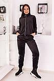 Велюровый спортивный костюм кофта на молнии и штаны с лампасами размер: 48-50,52-54, фото 6