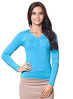 Яркий пуловер с цветком (S-4XL в расцветках)