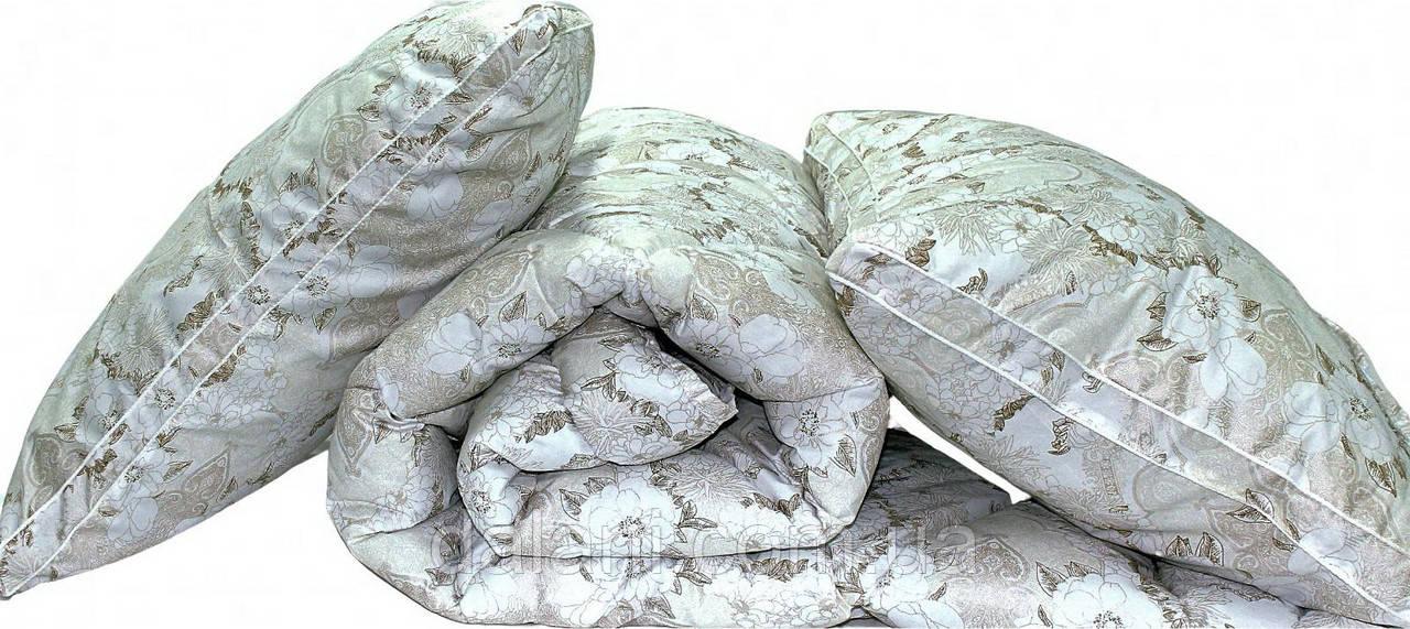 ТМ TAG Одеяло лебяжий пух Цветы евро + 2 подушки 70х70