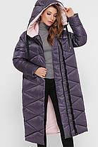 Зимняя женская удлиненная куртка  Размеры XL, 2XL, 3XL, 4XL, 5XL, фото 2