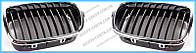 Решетка радиатора BMW 5 E39 (00-03) левая, хром/хром (FPS) 51132497261