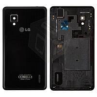 Задняя крышка батареи для LG Optimus G E975 / LS970, черный, оригинал