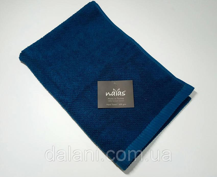 Полотенце синее махровое Niaz neon 45*70