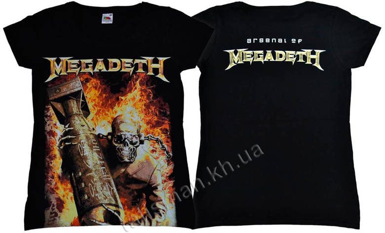 Футболка  женская MEGADETH Arsenal of Megadeth , фото 2